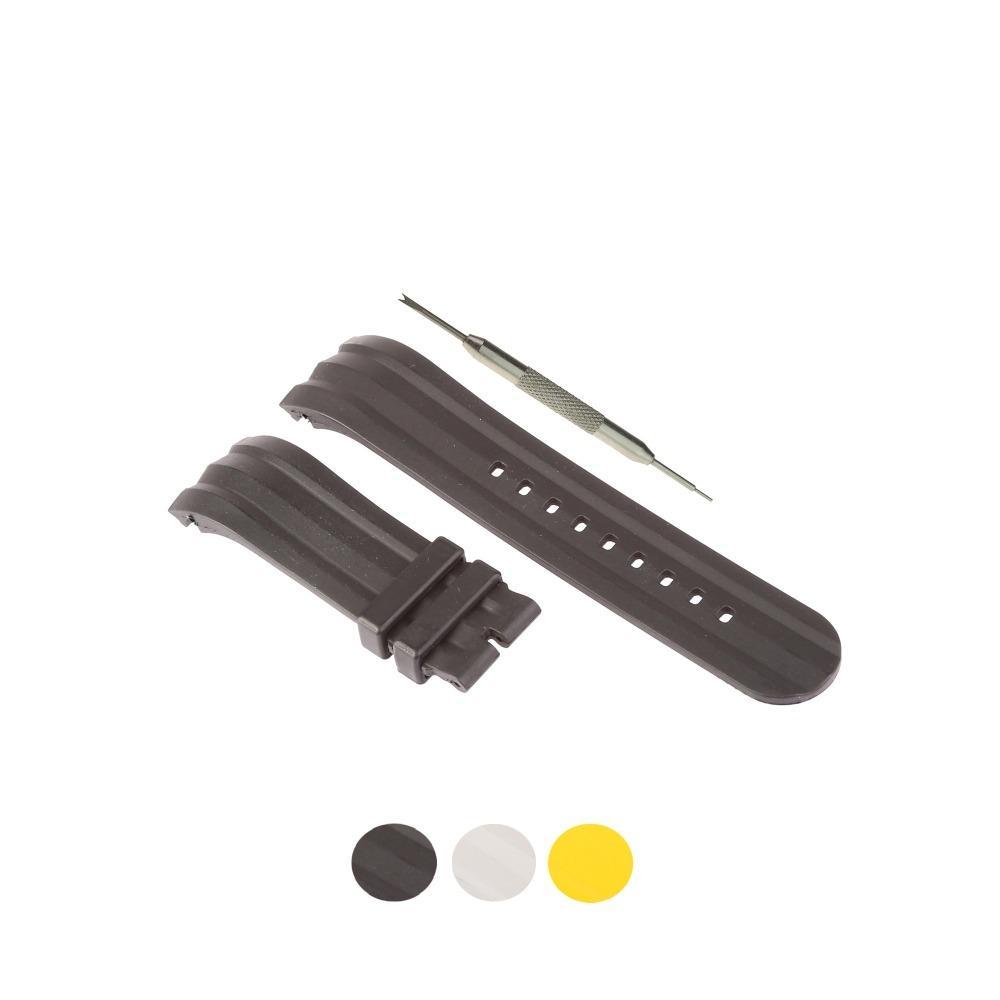 ec7cc41548c Compre MDNEN 24mm Pulseira De Borracha Assista Se Encaixa Para Nautica  A15564G