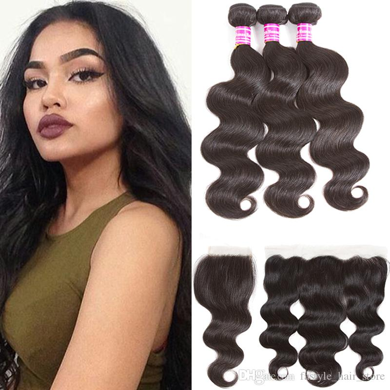 Hair Extensions & Wigs Ever Beauty Brazilian Hair Weave Bundles Body Wave Buddles Human Hair Extension Remy 3 Bundle Deals 10-28 Inches Natural Black Human Hair Weaves