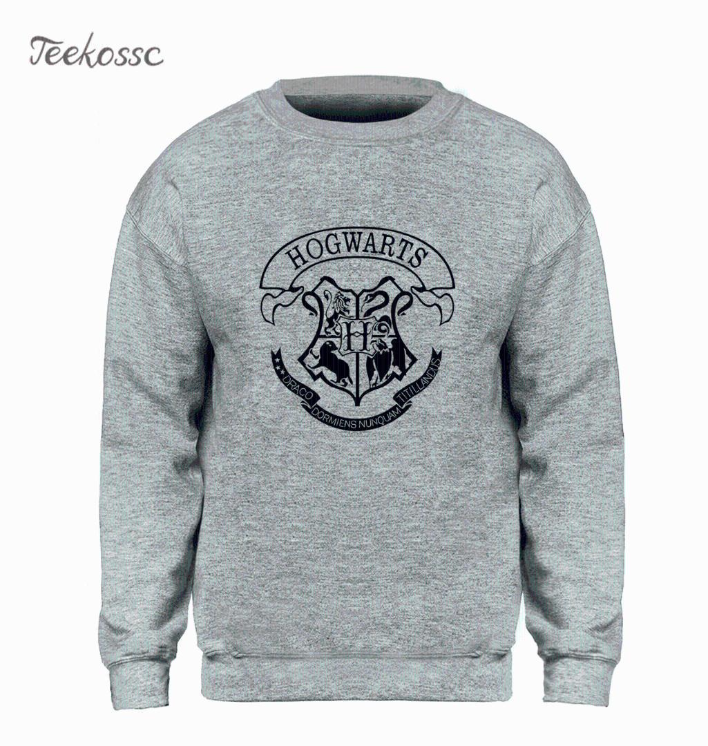 b65a0ca08792 2019 Hogwarts Sweatshirt Men Magic Hoodie Graphics Design Crewneck  Sweatshirts 2018 Winter Autumn Fleece Warm Slim Fit Brand Clothing From  Pamele