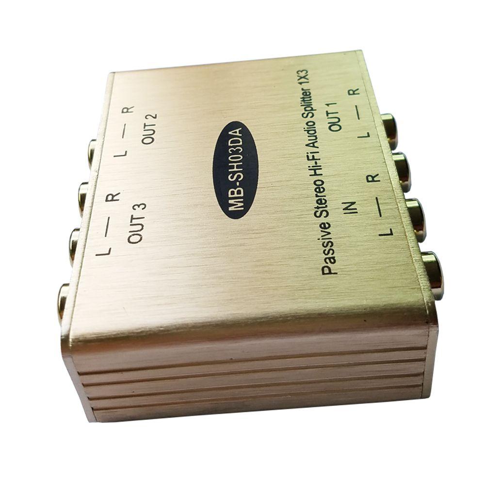 Divisor de audio estéreo de 3 canales Divisor de audio estéreo RCA Divisor de audio analógico con aislamiento y eliminación de ruido