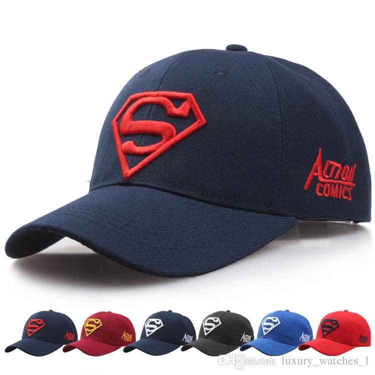 d603c011c7e 2018 Superman Baseball Hat for Men Women Flat Adjustable Sun Hats ...