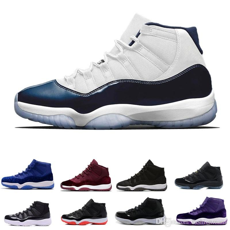 hot sales d9e3e b2d06 11 Prom Night Cap And Gown Blackout Like 82 96 Gym Red Chicago Midnight  Navy Basketball Shoes 11s Bred Space Jam Concords Sports Sneaker Shoes  Basketball ...
