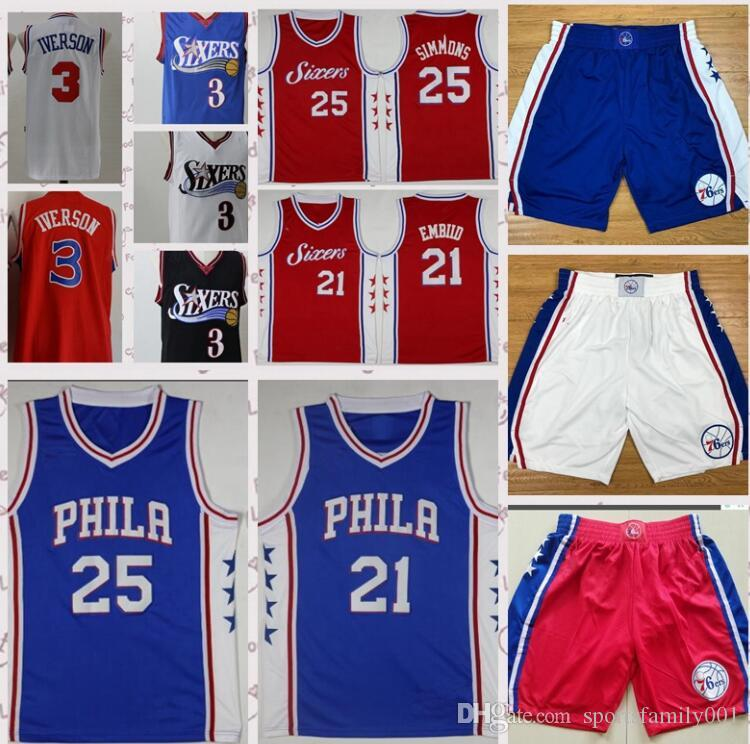 92a07c199 Philadelphia 21 Joel Embiid 76ers 25 Ben Simmons Jersey 20 Markelle ...
