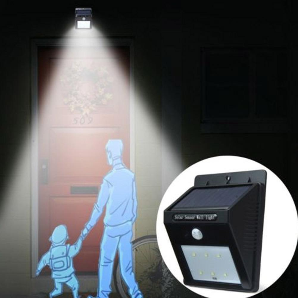 New Solar Panel LED Flood Security Solar Garden Light PIR Motion Sensor 6 LEDs Path Wall Lamps Outdoor Emergency Waterproof Lamp