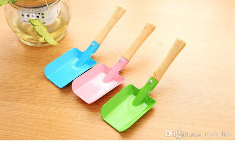 Mini Gardening Shovel Colorful Metal Small Shovel Garden Spade Hardware Tools Digging Garden Tools Kids Spade Tool HF4539
