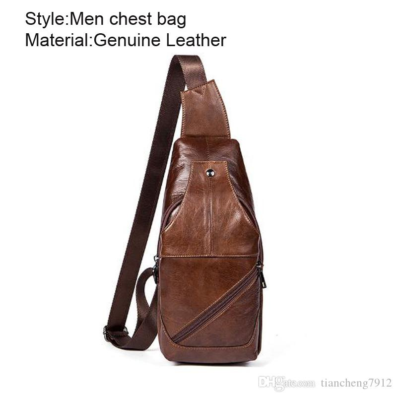 5b19e8994eb5 Vintage Men Durable Coffee Travel Hiking Small Leather Crossbody Bag Man  Purse Mens Leather Sling Bag 1216 Handbag Sale Side Bags From  Tiancheng7912
