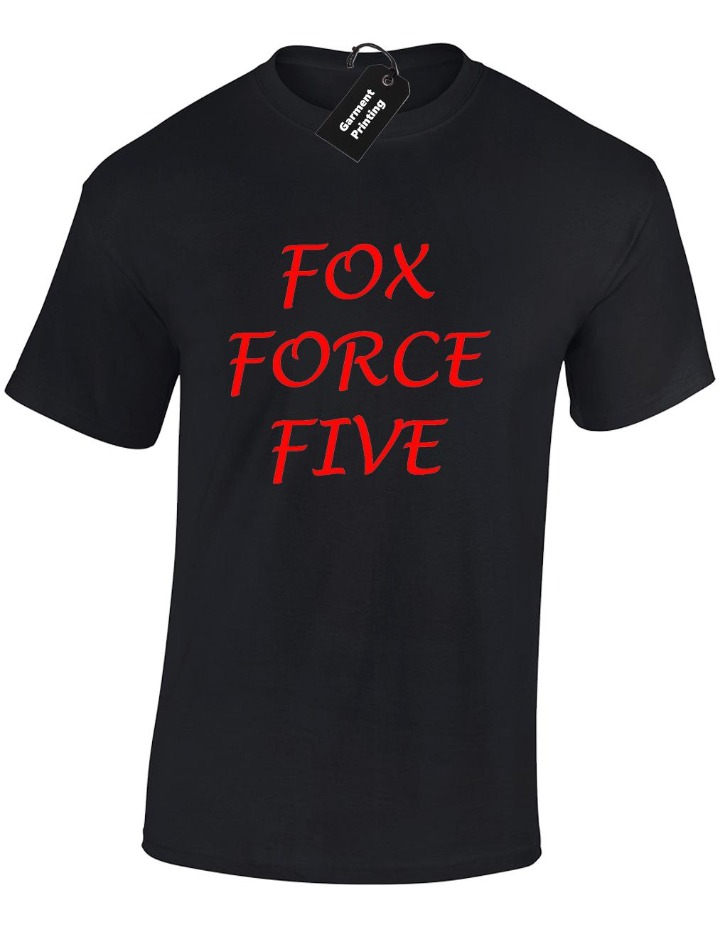 FOX FORCE FIVE MENS T SHIRT COOL RETRO KILL BILL MOVIE FILM FUNNY  SAMURAIcolour jersey Print t shirt