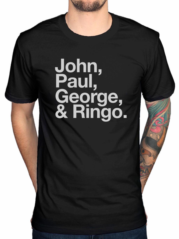 Official THE BEATLES JOHN PAUL GEORGE   RINGO T Shirt Fab Quatre Seul Cœurs  Awesome Tshirt Designs 10 T Shirts From Slimmingtshirt 9e9bb265c