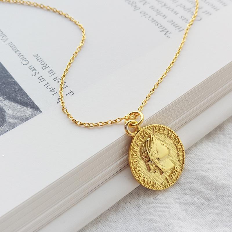 bbe3bc8c2a63 Compre ABC Adorno De Plata 925 Simple Mujer Moneda Colgante Collar Para  Mujer Regalo Oro Dólar Ronda Moneda Colgante Collar Moneda A  6.54 Del  Raylove ...