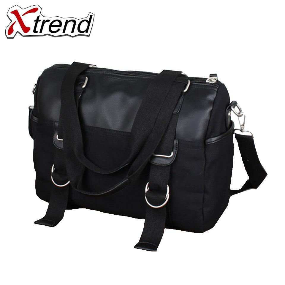 612ae078d1 Xtrend PU Leather+Canvas Men Travel Bags Overnight Duffel Bag Weekend  Handbag Large Tote Bags Crossbody Hand Italian Leather Handbags Pink  Handbags From ...