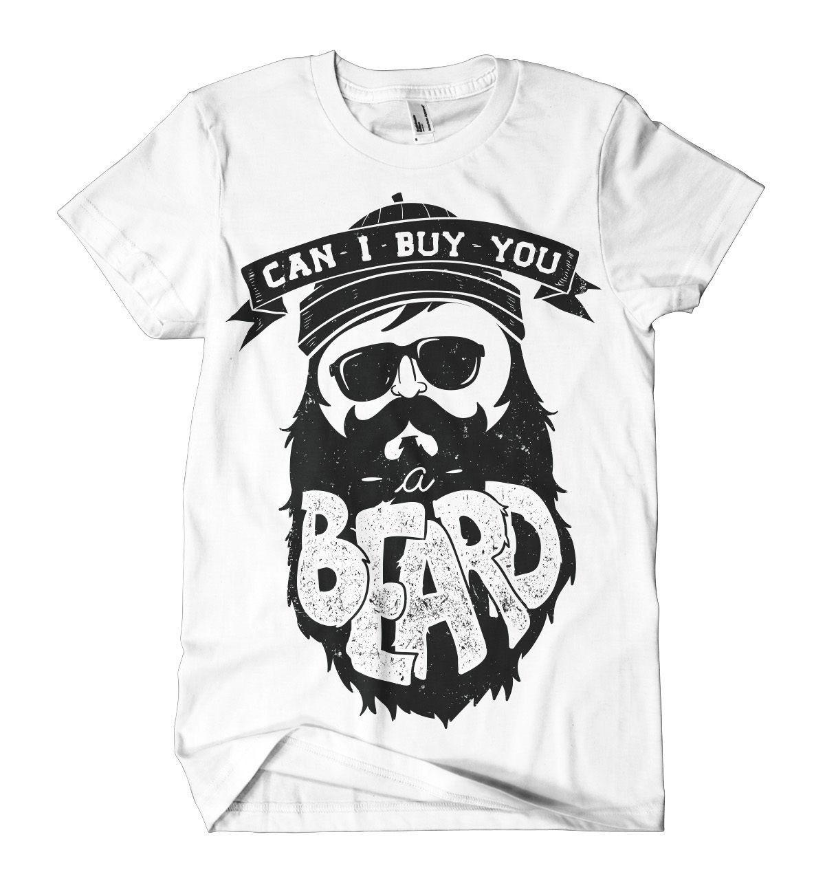 eacc5e6e08c15d Can I Buy You A Beard Printed T Shirt Hipster Moustache Print Mens Girls Tee  Newcool Casual Pride T Shirt Men Unisex New Fashion Cheap Funny T Shirts  Cheap ...