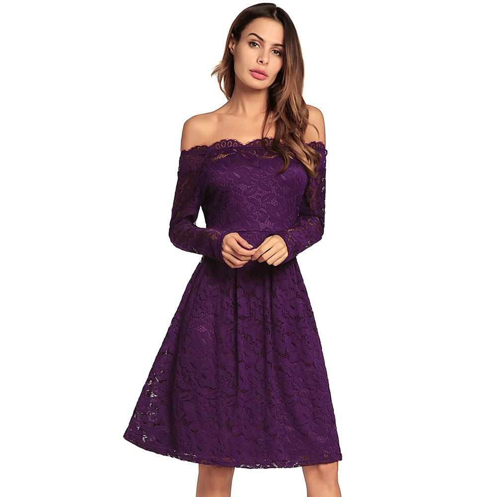 157fab53a3 New Pattern Suit Dress One Word Lead Sexy Long Sleeve Self Cultivation Lace  Dress Skirt Casual Dresses For Women 2015 Woman Clothing Ladies Womens  Dresses ...