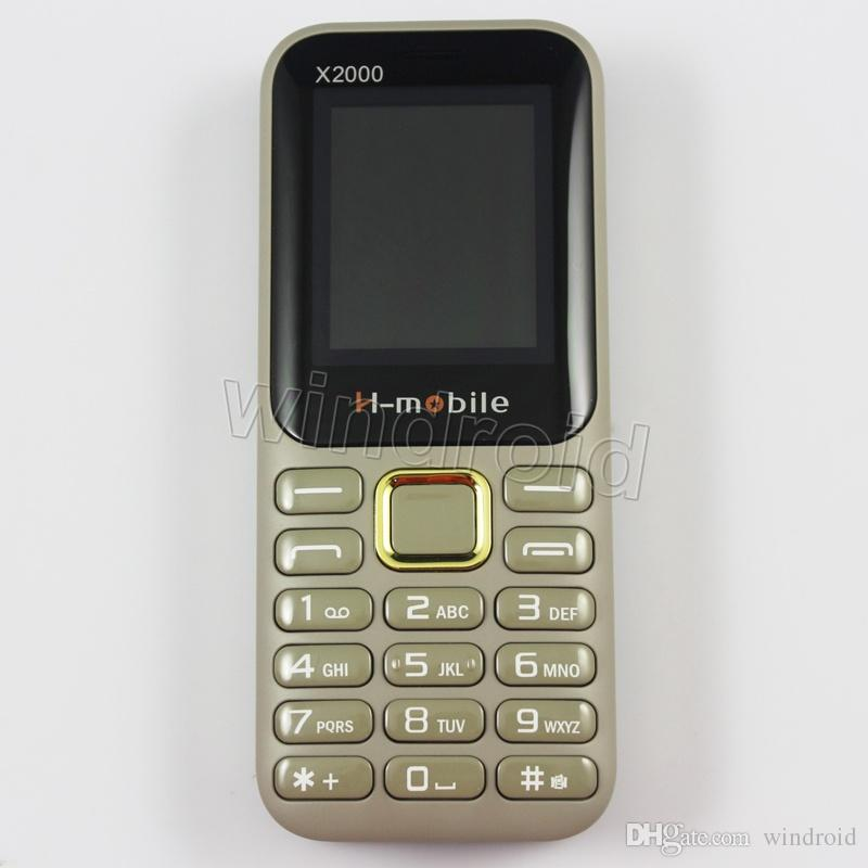 """H-Mobile X2000 1.8"""" Cheapest Mobile Phone Dual Sim Quad Band 2G GSM Phone Unlocked with big Flashlight speaker battery whats app cheap"""