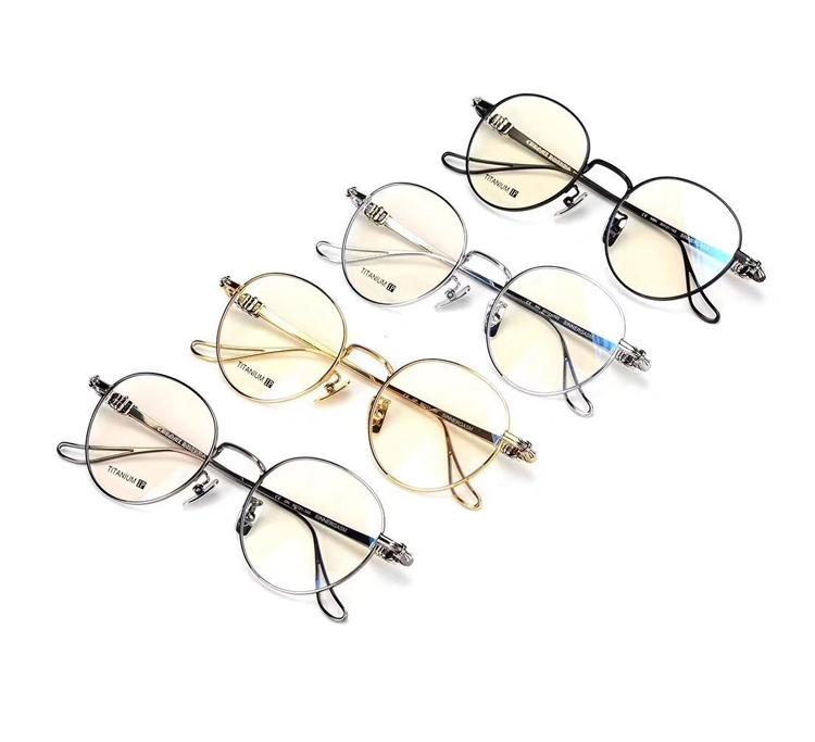 901bb4a90c New Fashion Vintage Round Titanium Metal Frame Glasses Men Women ...