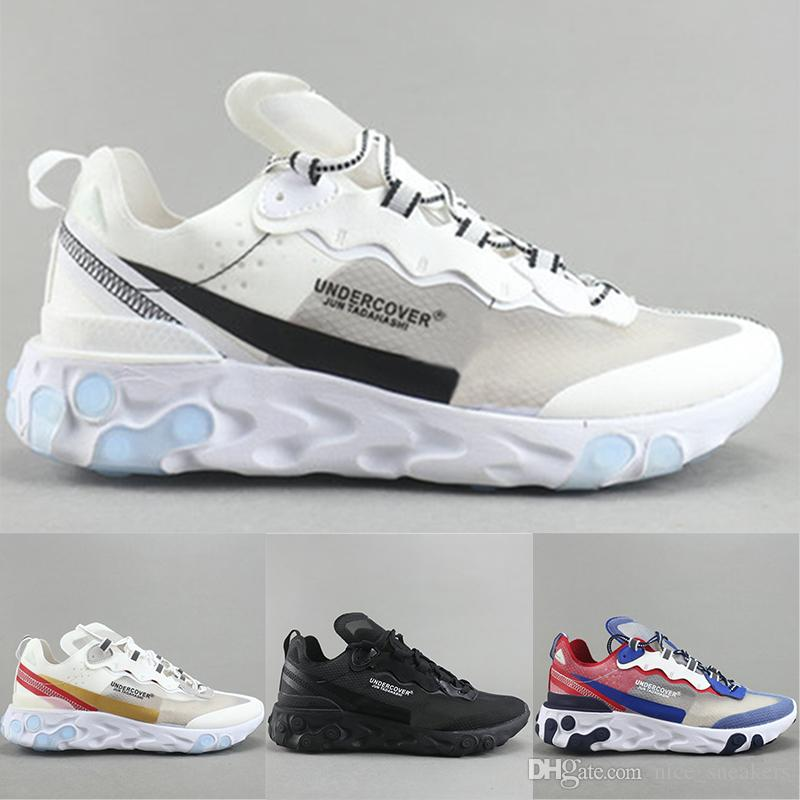 2018 Top UNDERCOVER EPIC REACT ELEMENT 87 Grey White Black Mens Running Shoes For Sale Women running shoes Sneaker sport shoes online cheap price cheap authentic outlet sale the cheapest enjoy online classic for sale xCgL2nC075