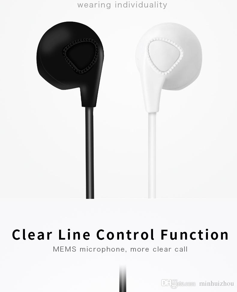 Yüksek quanlity customed Kulaklık Mic ile Kablolu 3.5mm kulaklık 1 M Kulak Stereo Spor Kulaklık için iphone 4/5/6 Samsung cep kulakiçi