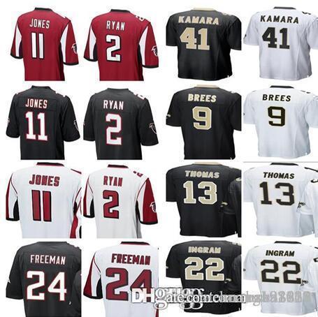 2018 Men S Womens Kids Atlanta Falcons 11 Julio Jones 2 Matt Ryan Devonta  Freeman Saints Alvin Kamara 9 Drew Brees 13 Michael Thomas Jerseys From ... 947091c8f