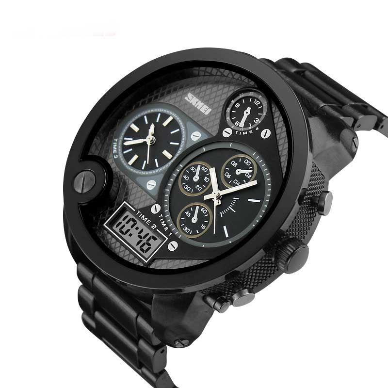 34077a792 Big size Luxury Top Men Watches Men's Clock Quartz Hour Analog Digital  Sports Watch Men Army Military Wrist Watch Relogio Masculino