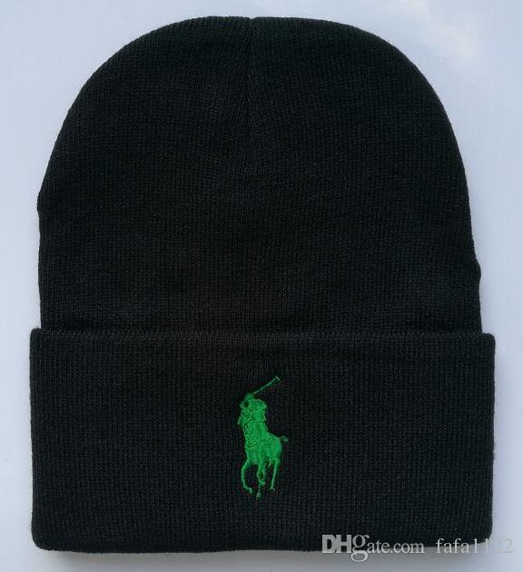 0a74505f9b7 2018 Fashion Unisex Spring Winter Hats For Men Women Knitted Beanie Wool Hat  Man Knit Bonnet Polo Beanie Gorros Touca Thicken Warm Cap Cool Beanies  Beanie ...