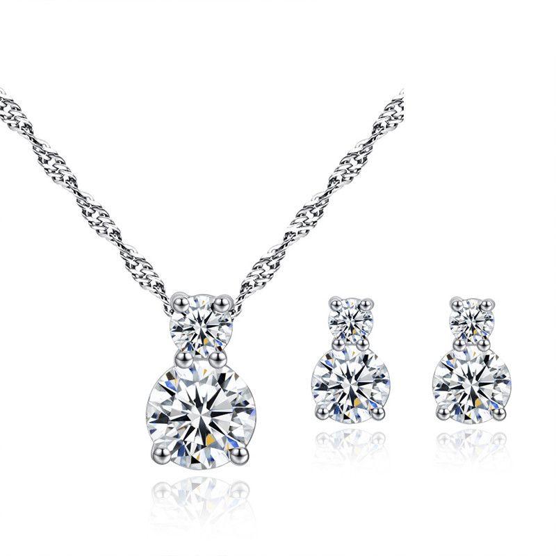 TJP Top Quality 925 Sterling Silver Earrings For Women Jewelry Sets ... e26712163503