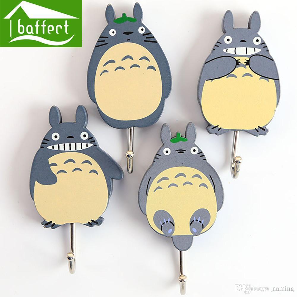 Wholesale- Totoro Creative Mood Coat Hooks for Bag Keys Wall ...