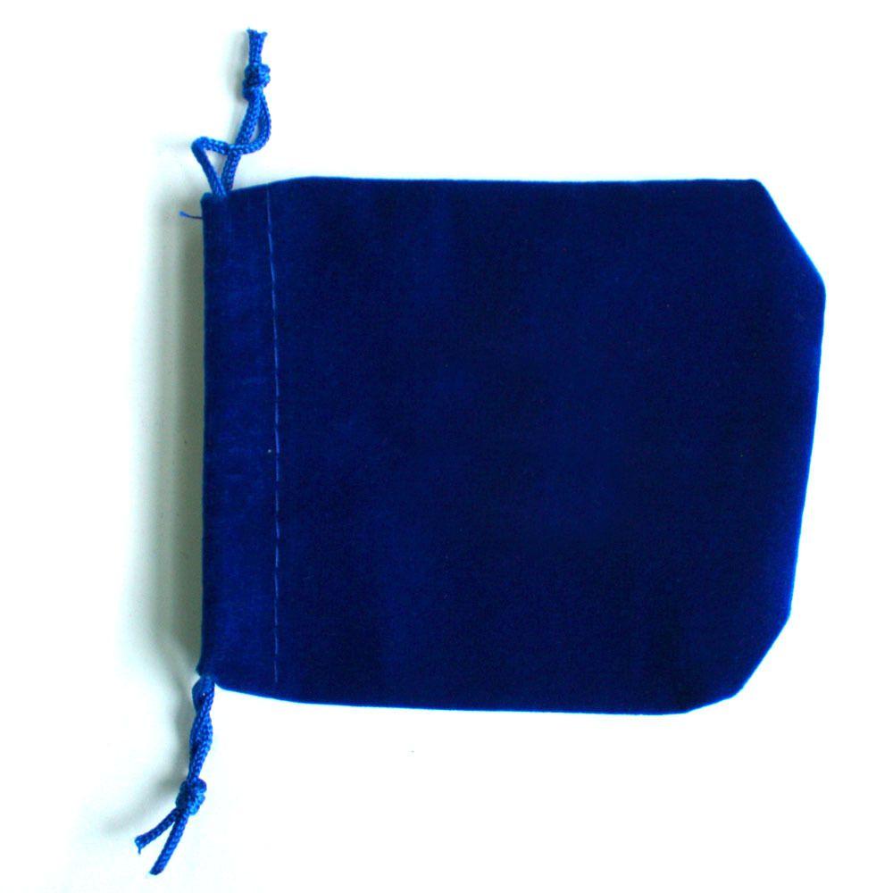 7x9cm bolsa de lazo de terciopelo azul oscuro / bolso de la joyería, Navidad / bolsa de regalo de boda PS-PDA01-01DBL