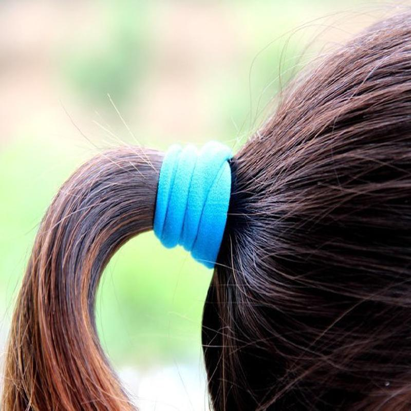 Home 10 Pcs Candy Color Hair Holder High Quality Rubber Band Elastic Hair Bands Girl Tie Gum For Hair Accessories Women