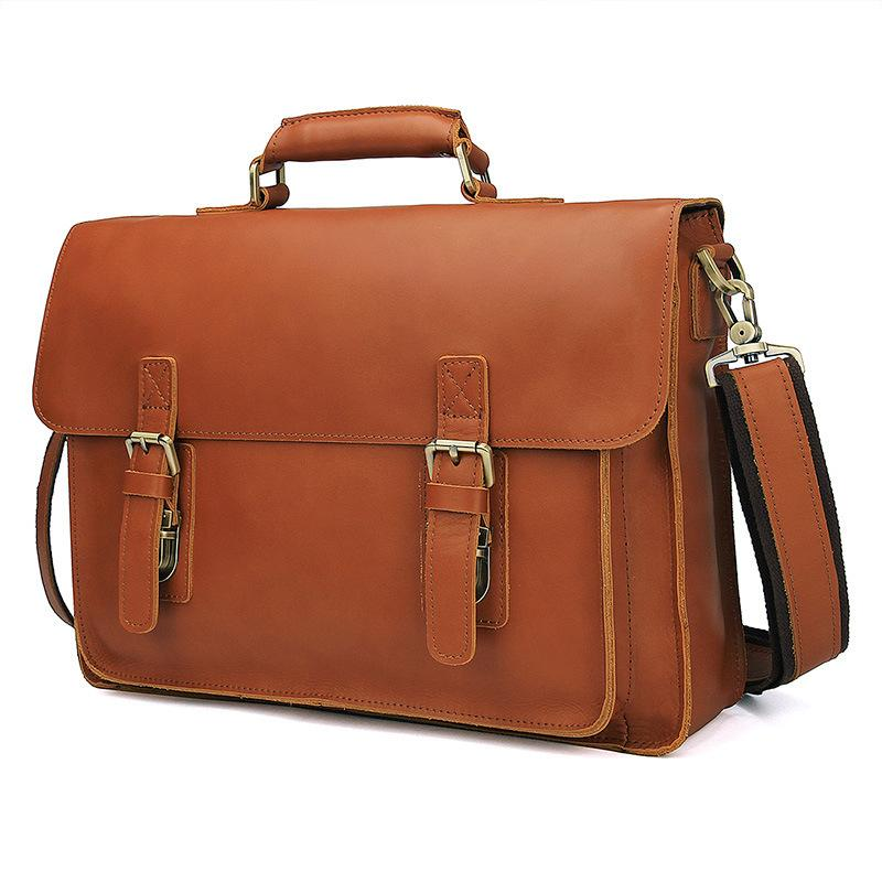 Luxury Men S Briefcase Tote Men Messenger Bag Brands Travel Laptop For  Document Business Genuine Leather Shoulder Bags Male Handmade Leather Bags  Leather ... d91926810b