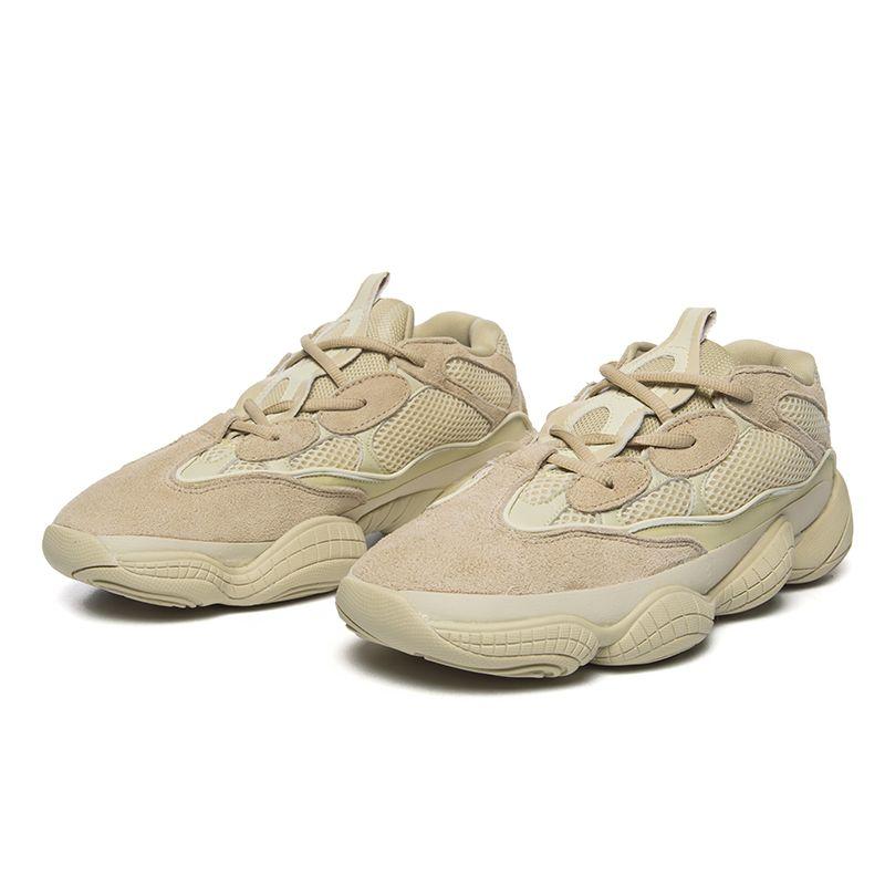 a975978d9 Running Shoes Kanye 500 Shoe For Men Utility Black Moon Yellow Desert Rat  OG On Trend Shape Chunky Runner Men Women Bottom Creat Sneaker Sport Shoes  Mens ...