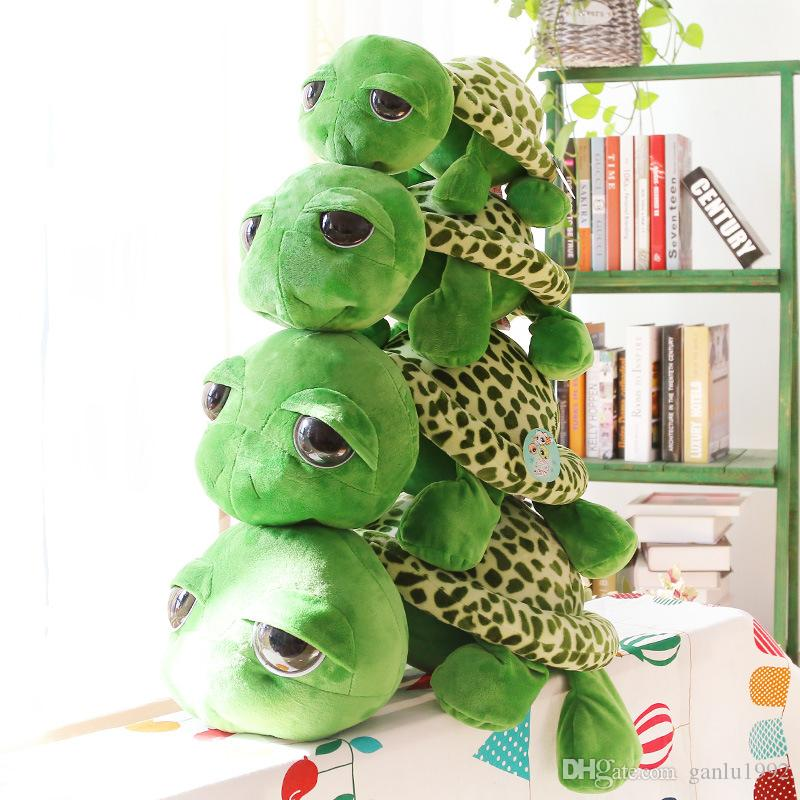 2019 Cartoon Plush Toys Green Giant Eyed Turtle Stuffed Animal