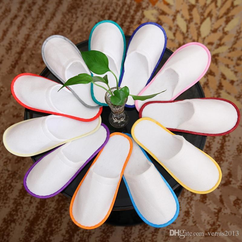 Bath Disposable Slippers Hotel Towelling Slippers EVA Slipper Men Women Flip Flop White Multi color Indoor Cheap Slipper