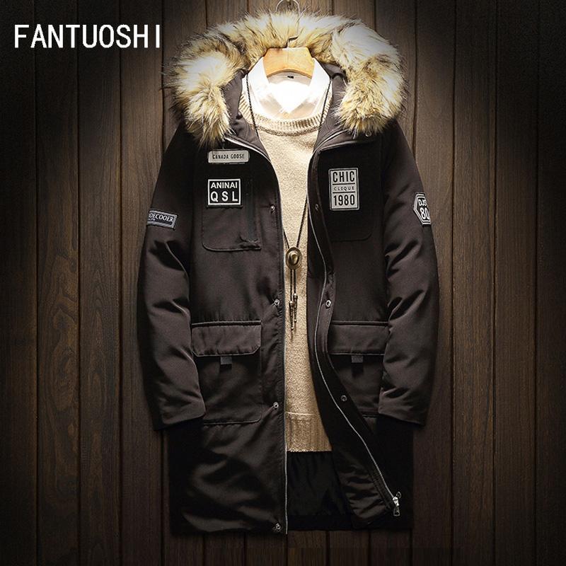 252ced7af3a 2018 Top Quality Warm Men s Cotton Winter Jacket Men Windproof ...