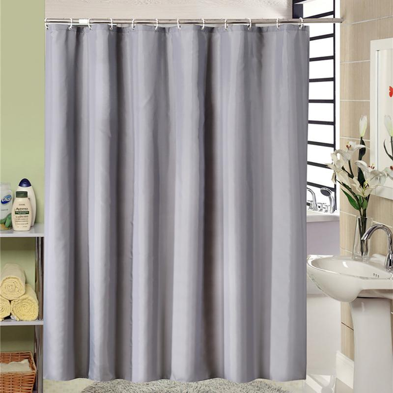 European Style Modern Grey Bathroom Shower Curtain Fabric Liner With 12 Hooks 71x71 Inch Waterproof And Mildewproof Bath UK 2019 From Likejason