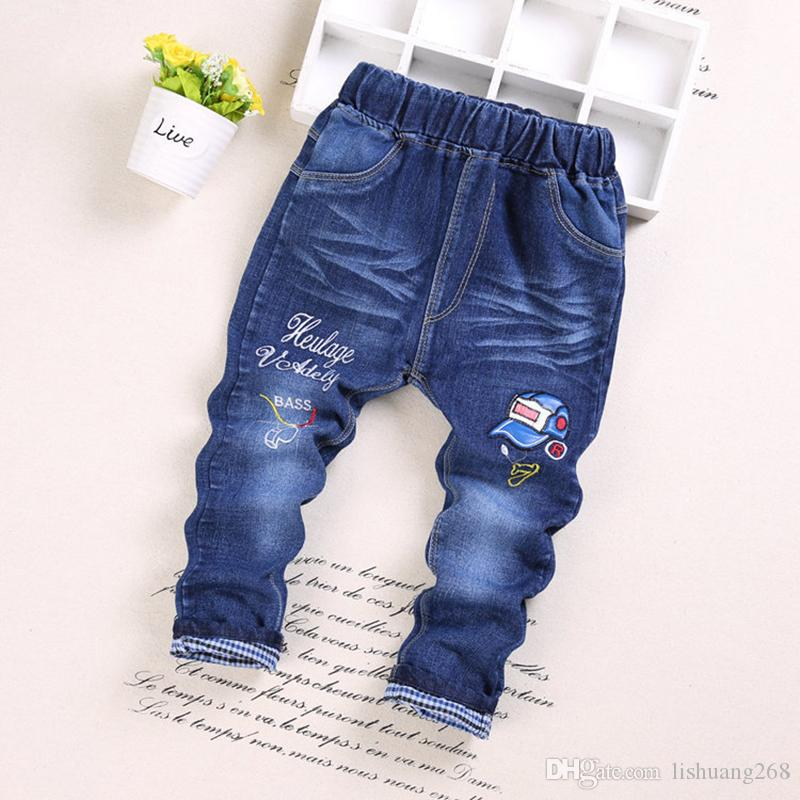 2017 NEW Autumn Fashion Boys Jeans Cartoon Baby boy Pants high quality Spring Kids Jean Trousers Children Denim 2-6