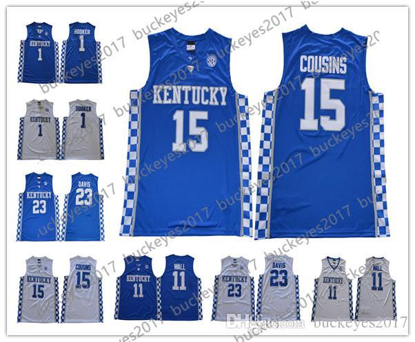 94c4ecba9c0e ... college basketball jersey 88821 87613  czech 2018 kentucky wildcats 11  john wall 15 demarcus cousins 23 anthony davis blue black red
