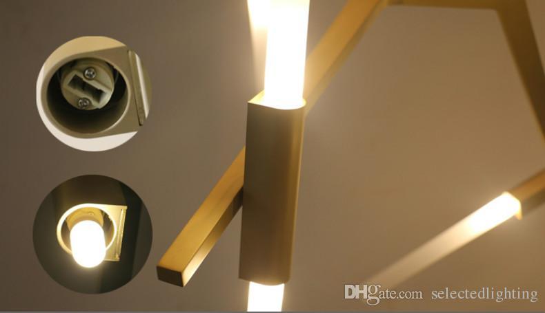 La lámpara moderna moderna de las lámparas de la rama de RH para cenar las luces pendientes de la sala de estar libremente diseña el vidrio / la pantalla de acrílico