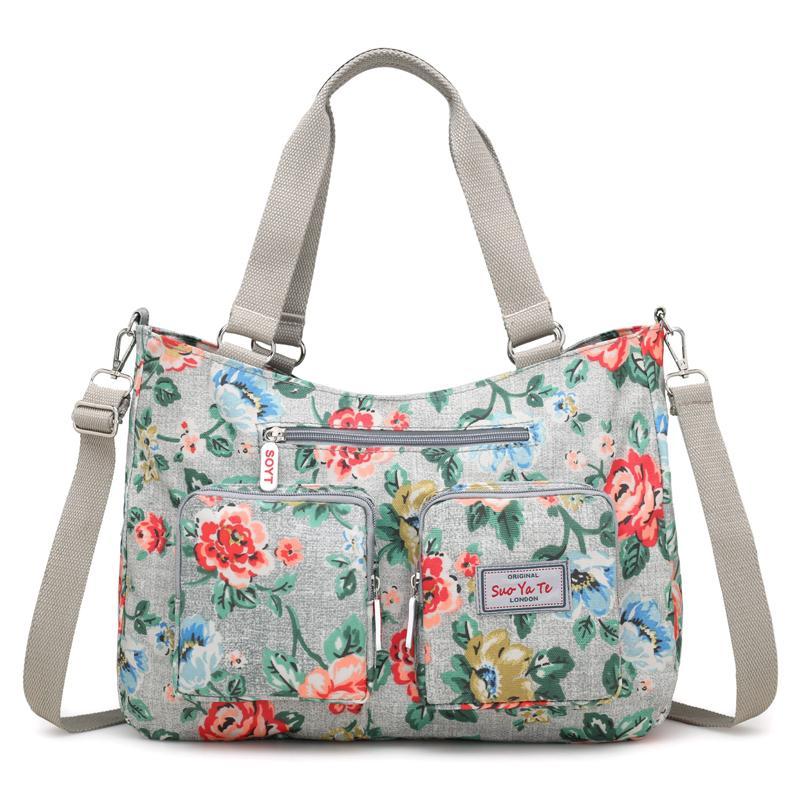 Soty 2018 New Fashion Handbags Nylon Flowers Shoulder Crossbody Bags Women  Bag Floral Soft Small Bag Messenger Bags Casual Tote Handbag Brands Cheap  Bags ... 527302da07e99