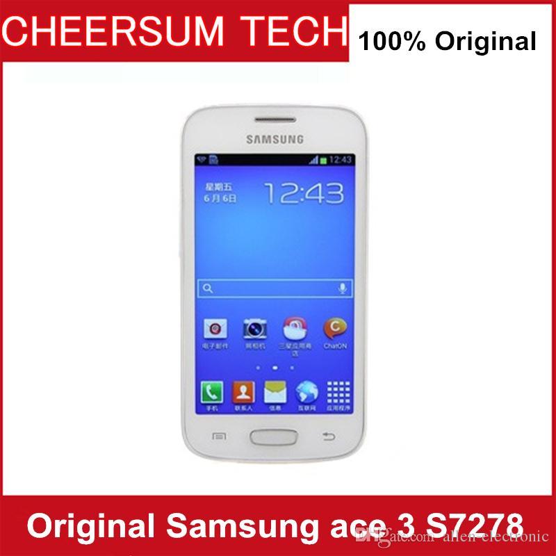 Unlocked Original Samsung GALAXY Ace 3 S7278 phone refurbished Android 4 1  Wifi GPS 3G 4 0 512MB RAM 4G ROM samsung S7278 cellphone 15PCS