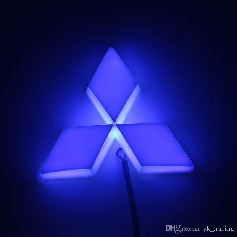 13.3 cm * 10.1 cm Car Emblem light mitsubish galant lancer zinger asx cuv lioncel Badge Sticker LED luce 4D logo Emblemi luce