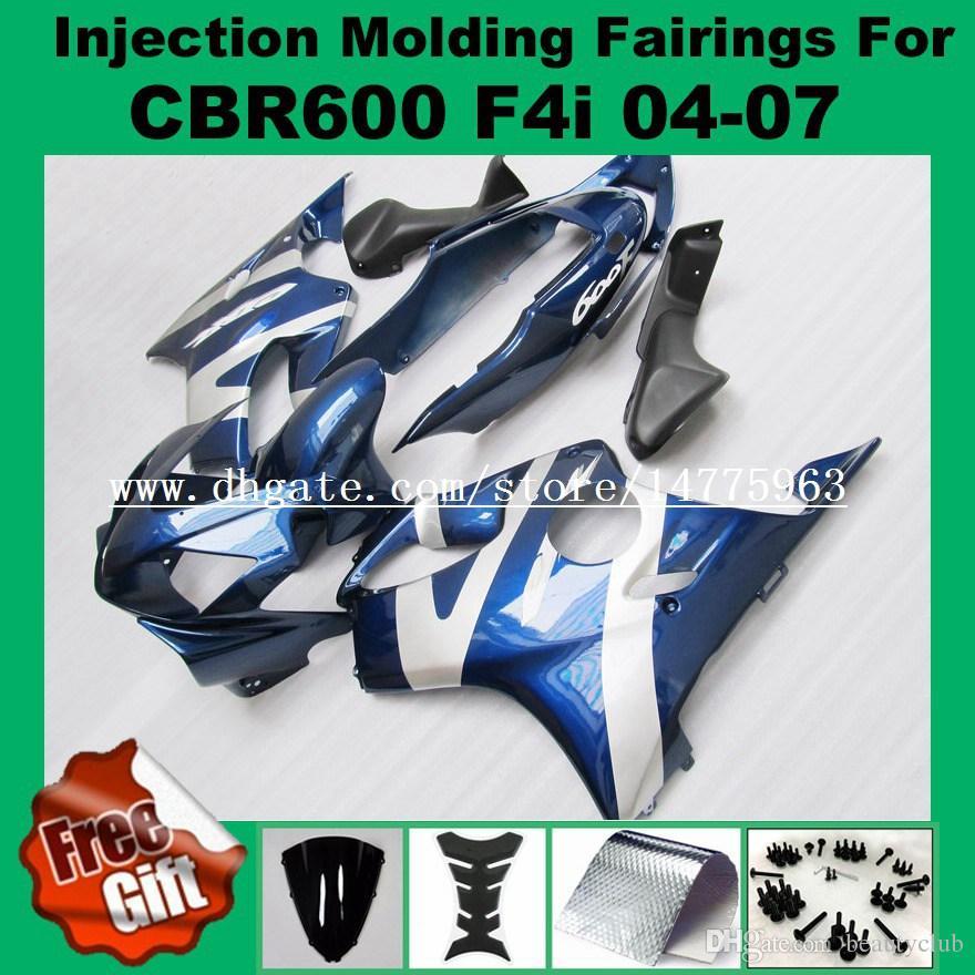 Injection Fairing kits For HONDA CBR600F4i 04 05 06 07 CBR 600 F4i CBR600RR F4i 2004 2005 2006 2007 Fairings kit red black orange windscreen