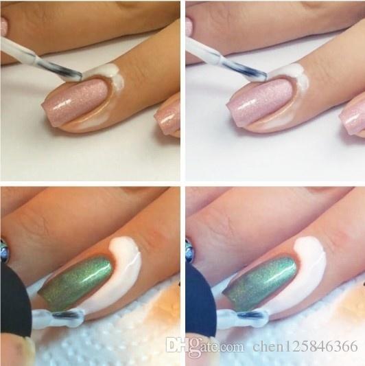 15ml Peel Off Liquid Tape & Peel Off Base Coat Nail Art Liquid Palisade Keep Fingers Clean