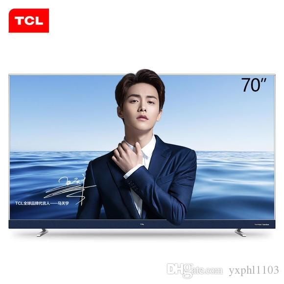 TCL 70 inch ultra-thin 4K LCD TV narrow edge Andrews intelligent LED LCD TV  hot new products free shipping
