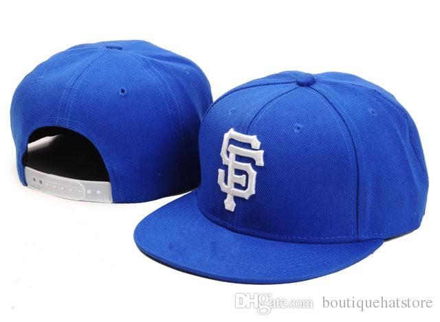 2018 Men S Blue Color Giants Snapback Hat For Men Classic LA Embroidery  Team Logo Bones Sports Baseball Flat Caps Hip Hop Chapeus Snapback Cap Cool  Hats ... cce8b3a8332