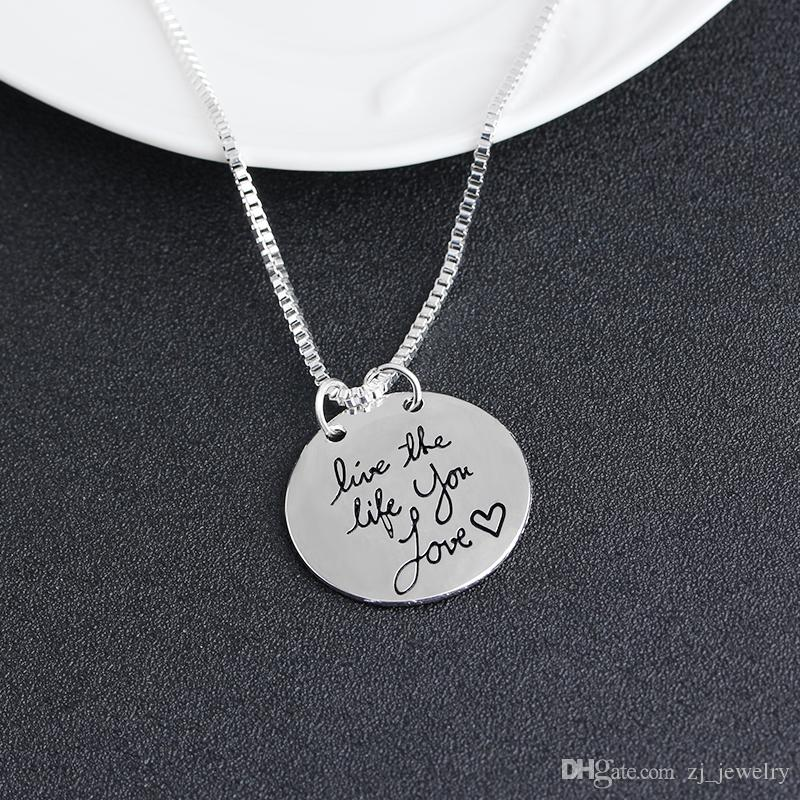 2019 New Fashion Jewelry Learn From Yesterday Live For Today Hope For Tomorrow Letter Pendant Necklace Gift For Women ZJ-0903217