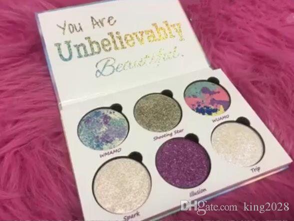 في المخزون والشحن مجانا! أنت جميلة بشكل لا يصدق تسريحات الشعر ظلال الحب Luxe Beauty Fantasy Palette Makeup 6 ألوان