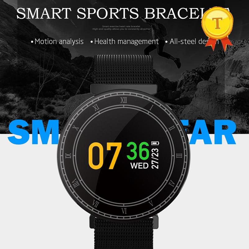 Newest Ip67 Waterproof Touch Screen Smart Fitness Bracelet Pedometer Heart Rate Monitor Wristband For Samsung Galaxy A5 S7 Best Activity