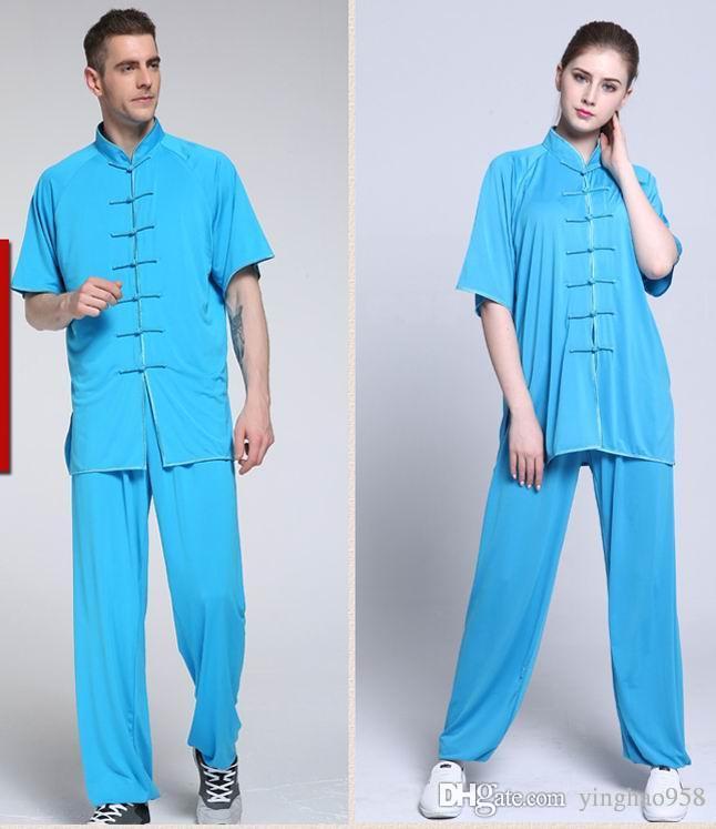 MMilk soie tai chi kung fu arts martiaux costumes costumes tai chi costumes longueur manches courtes
