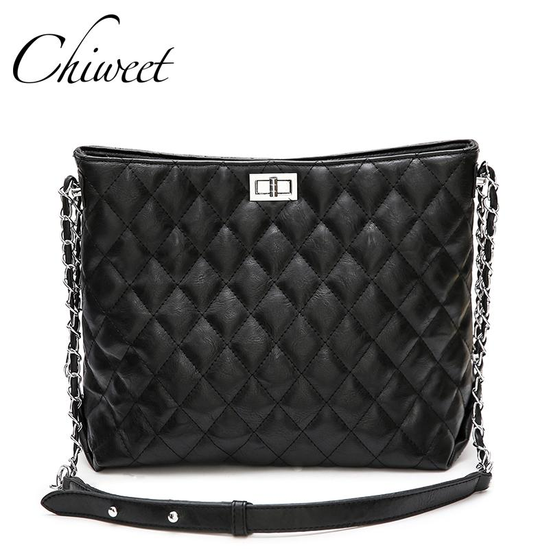 7ac49fa70b Brand Fashion Large Quilted Bag Classic Women Messenger Bags Luxury Handbags  Shoulder Bag Designer Female Casual Tote Leather Satchel Ladies Bags From  ...