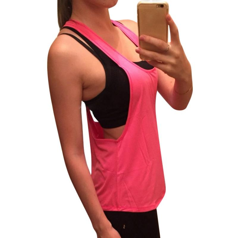 7407955c709d9 2019 2018 Newest Hot Sale Summer Sexy U Neck Solid Color Women S Loose  Halter Sleeveless Fitness Vest From Cety