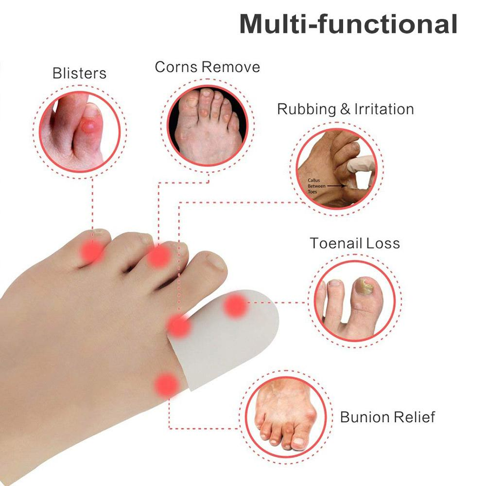 4pcs Relief Toes Cover Protective Tube High Heels Rubbing Toes Thumb Protector Guard Silicone Toe Cap Sleeve For Toes Protection free shippi